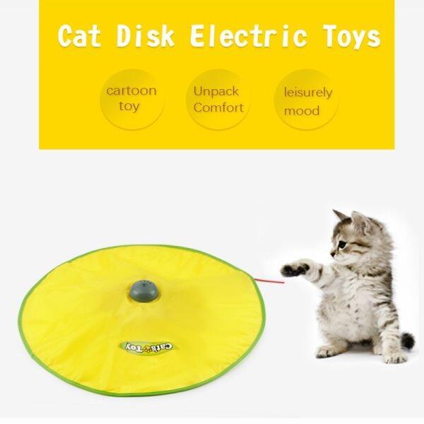 Đồ Chơi Mèo Điện, Bàn Xoay Đồ Chơi Mèo Tương Tác Trí Tuệ, Đồ Chơi Đĩa Giải Trí Cho Mèo Thú Cưng Bằng Nhựa Đồ Chơi Quay Trò Chơi Cho Mèo 5