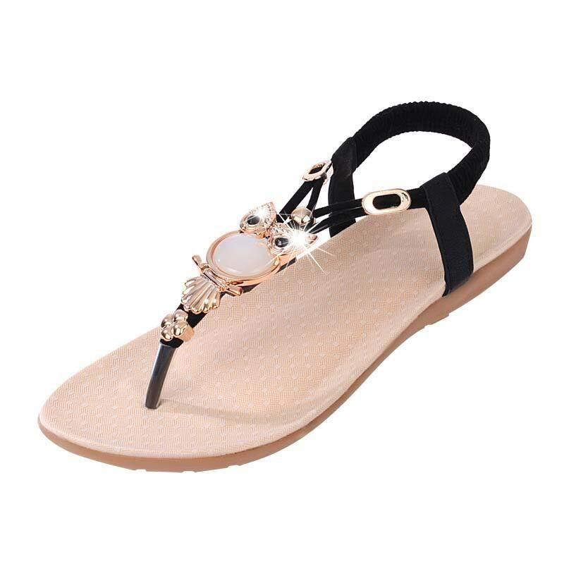Thời Trang Mùa Hè Giày Sandal Nữ Cú Đính Hạt Dép Phẳng Thoải Mái Đi Biển Cho Nữ Giày Chất Lượng Cao Chính Hãng Siêu Ưu Đãi tại Lazada