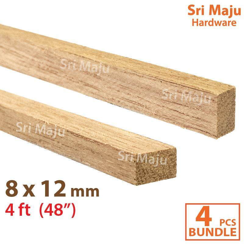MAJU 8mm x 12mm x 4ft Furniture Wood Stick Batang Kayu Perabot 8x12