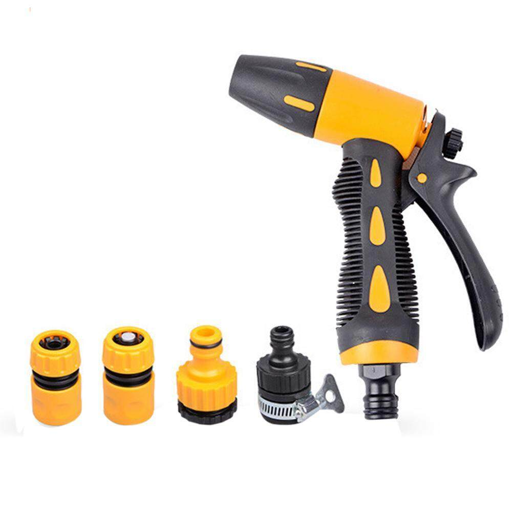 Bumblebaa Garden Hose Spray Nozzle 9-Pattern Heavy Duty Multi-Sprayer - High Pressure Nozzle for Garden Hose - Wash Dogs, Lawns, Pets and Cars -Includes 4 Joints