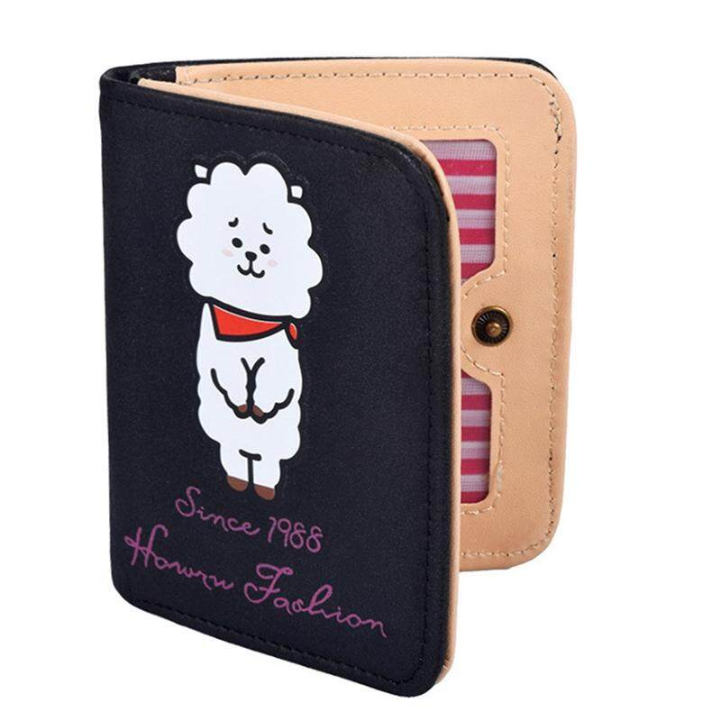 1Pc Bt S Bangtan s Bt21 Koya Cooky Corduroy Canvas Short Wallet Money Clip  Wallet Purse 015c80fbd3