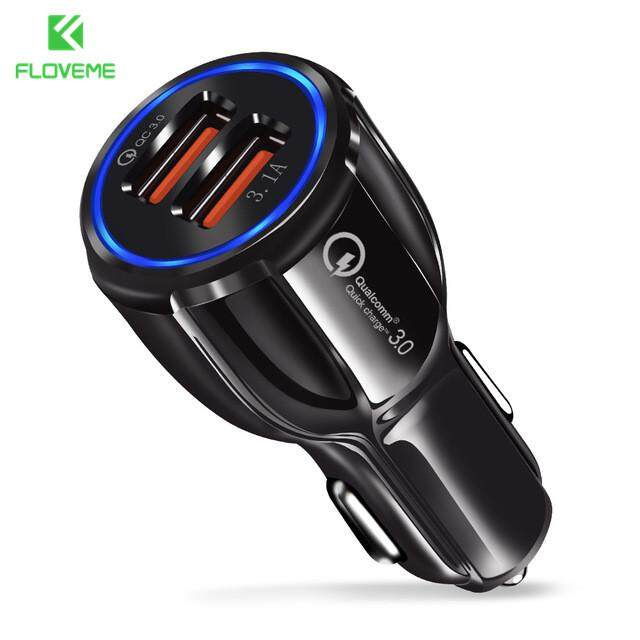 Floveme Qc 3.0 Fast Dual Usb Car Charger Charging Adapter Car Chargers For Xiaomi Redmi Huawei Micro Usb Type C Cable Charger.