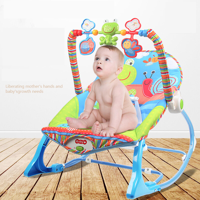 Baby Electric Cradle Swing For Newborn Metal Rocking Chair with Light Music Player Multifunction Baby Bassinet Cradle Kids