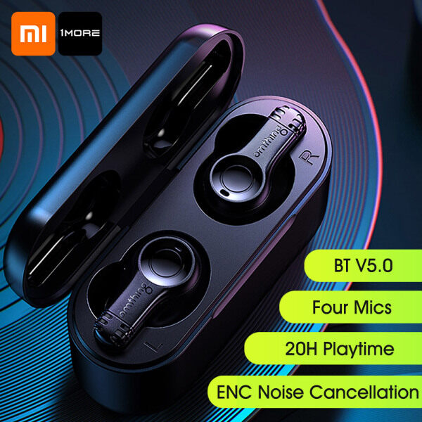 Xiaomi 1MORE Omthing TWS In-ear Headphones EO002 BT V5.0 Touch Control Stereo Bass ENC Noise Cancellation 20H Playtime Sports Business Earbuds With Mics Singapore