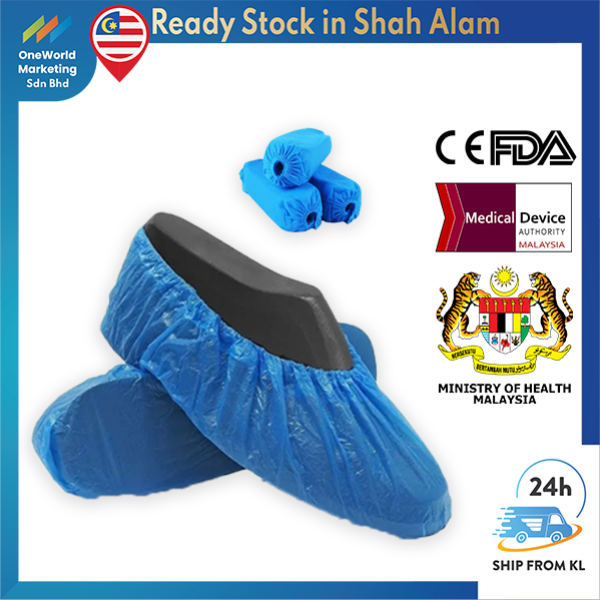 【Ship From-KL】Medical Shoes Cover 10Pcs Disposable Non Woven 40gsm - Surgical & Medical grade - CE Certified - PPE Items
