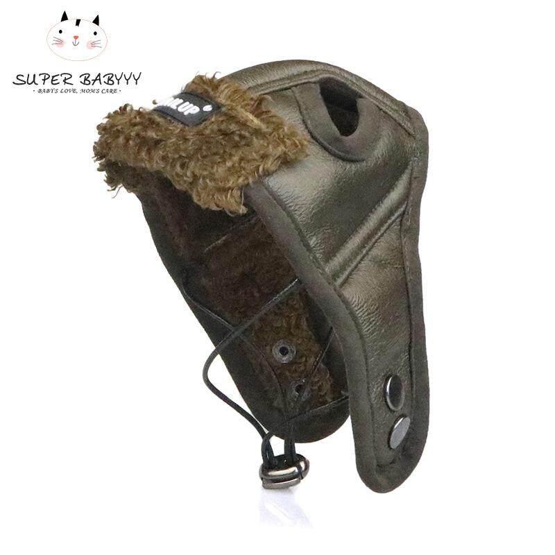 SBY 1 Pcs Musim Gugur Musim Dingin Anjing Peliharaan Pilot Hat Hangat Tahan  Angin Keren Kulit fe11c70dd7