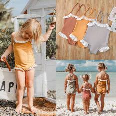Em Bé Một Chiếc Cho Bé Gái Vắt Cổ Chéo Trở Lại Bộ Đồ Bơi Phù Hợp Với Trẻ Mới Biết Đi Bộ Đồ Bơi Bikini Quần Áo Đi Biển