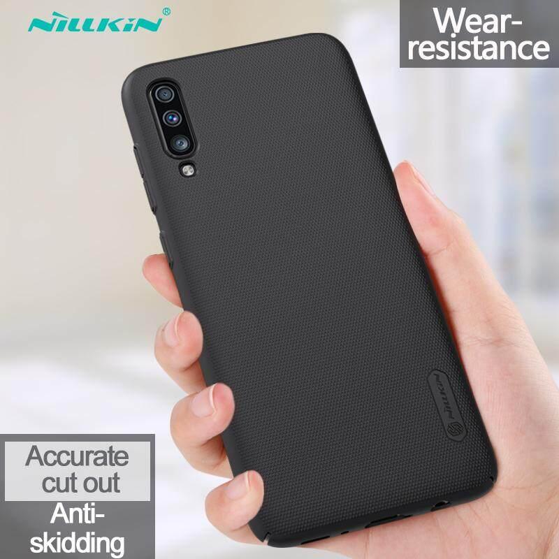 NILLKIN untuk Samsung Galaxy A70 Wadah Super Pelindung Ponsel Anti Silau PC Penutup Belakang PENUTUP UNTUK
