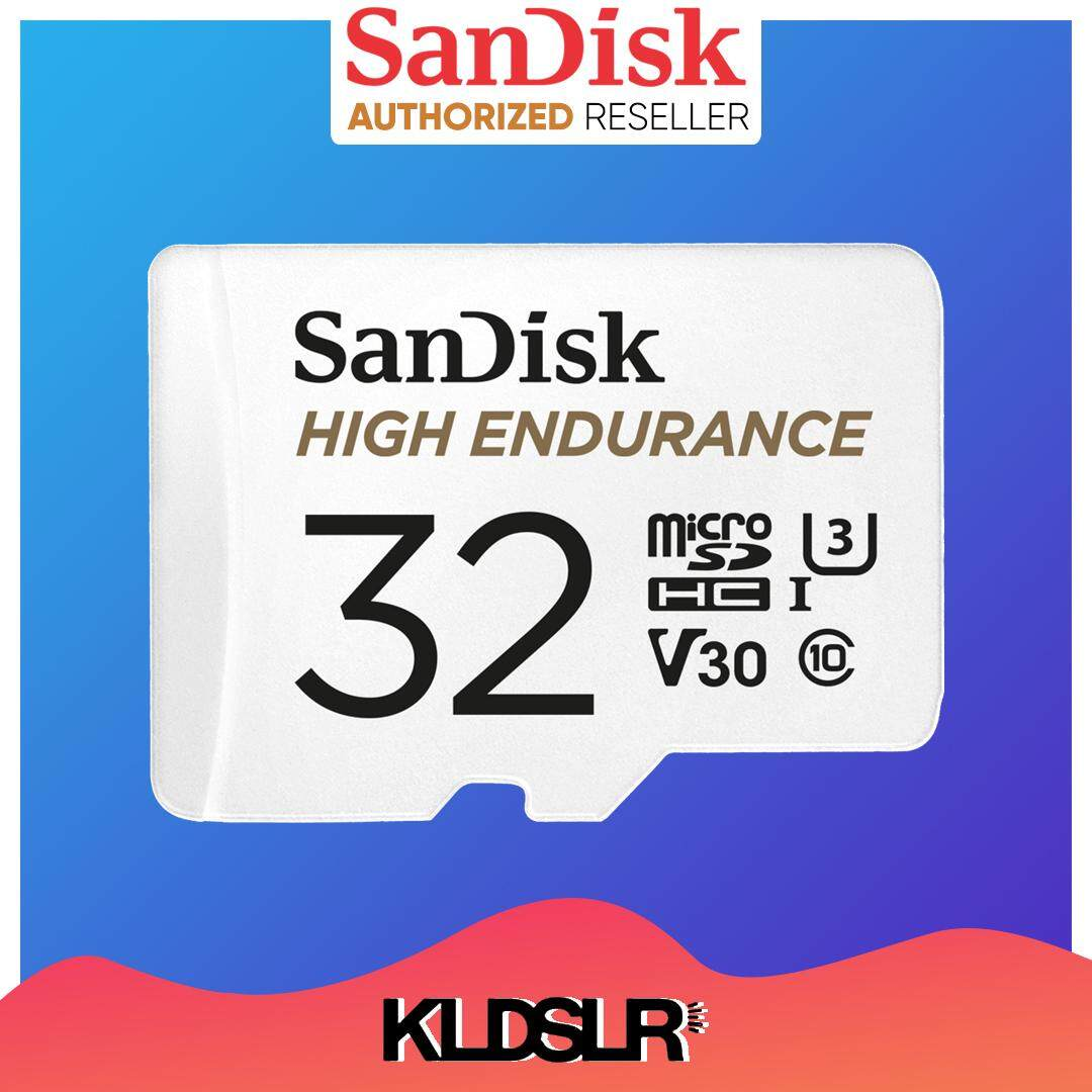 SanDisk Extreme High Endurance 32GB 100MB/S (READ), 40MB/S (WRITE) Video Monitoring Micro SD Card with Adapter for Dash Cams & CCTV, Home Security Camera (SDSQQNR-032G-GN61A)