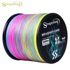 Sougayilang 9 strands dây câu 300/500/1000m bện PE dây câu cá nhiều màu câu cá giải quyết công cụ