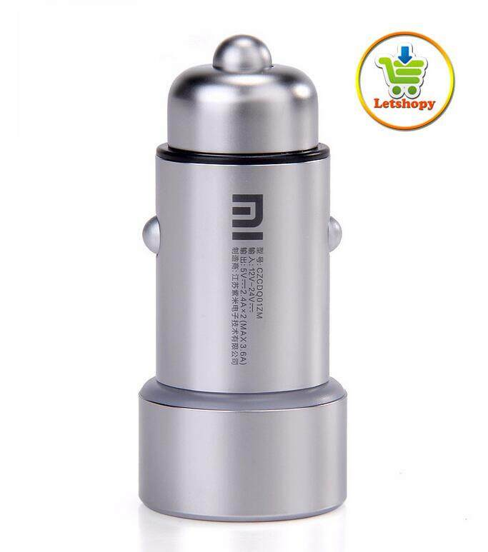 Original Xiaomi Dual USB 5V/3.6A Full Metal Fast Charging Car Charger