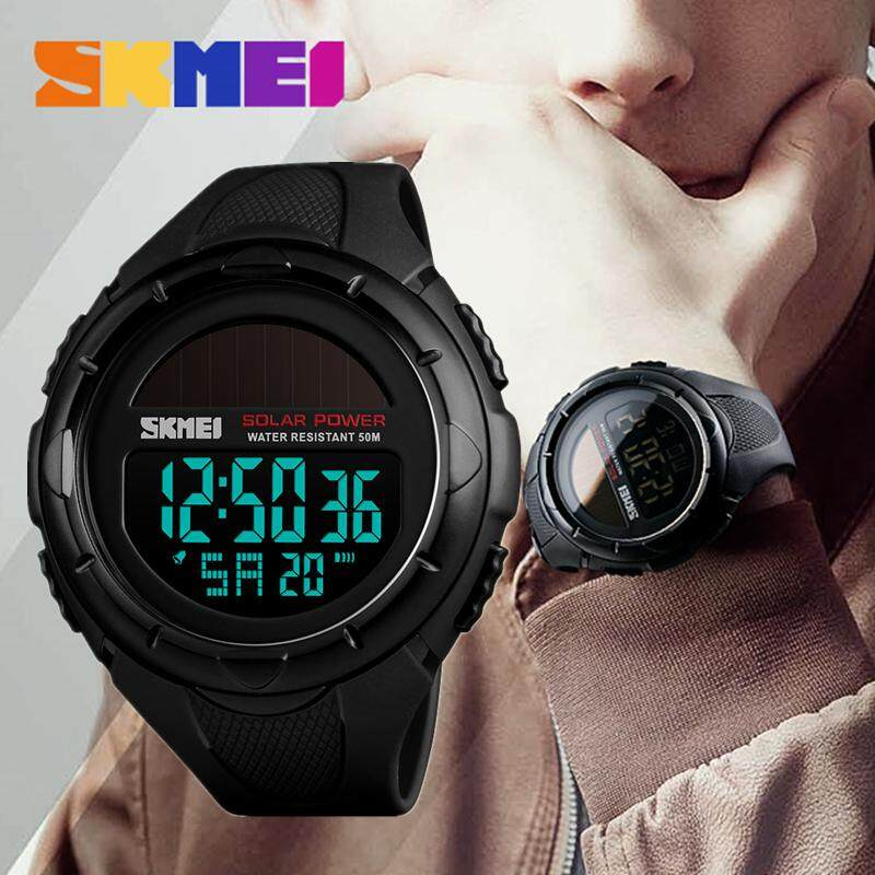 SKMEI Top Brand Luxury Mens Fashion Watches Men LED Digital Multifunction Electronic Watch Mens Casual 50M Waterproof Military Sports Chronograph Watches Malaysia