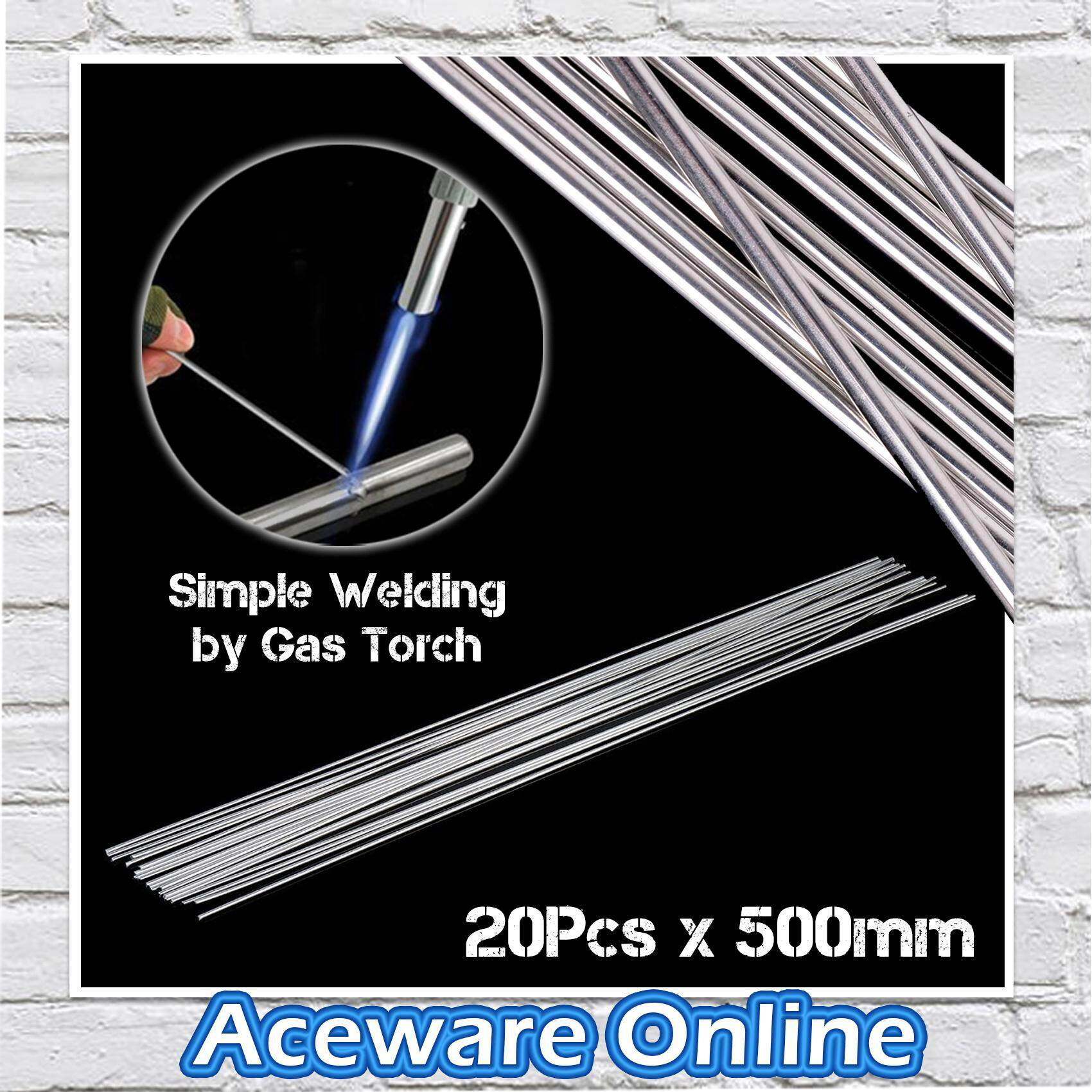 20PCS 2.4MM X 500MM Low Temperature Aluminium Welding Wire Rod Electrode Welding Stick Soldering 500mm