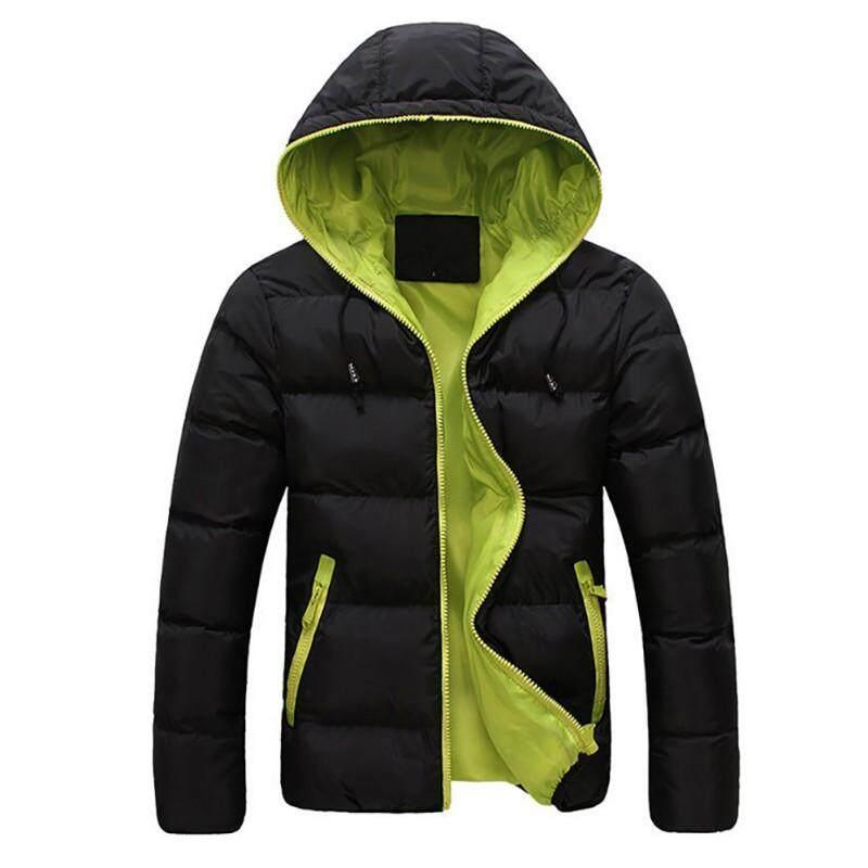 Chenbaoshop ฤดูหนาว Warm เสื้อแจ็คเก็ตชายมีฮู้ดเสื้อลำลองกระชับส่วนแจ็คเก็ตบุคอตตอน Parka Overcoat Hoodie เสื้อโค้ทแบบหนา By Chenbaoshop.