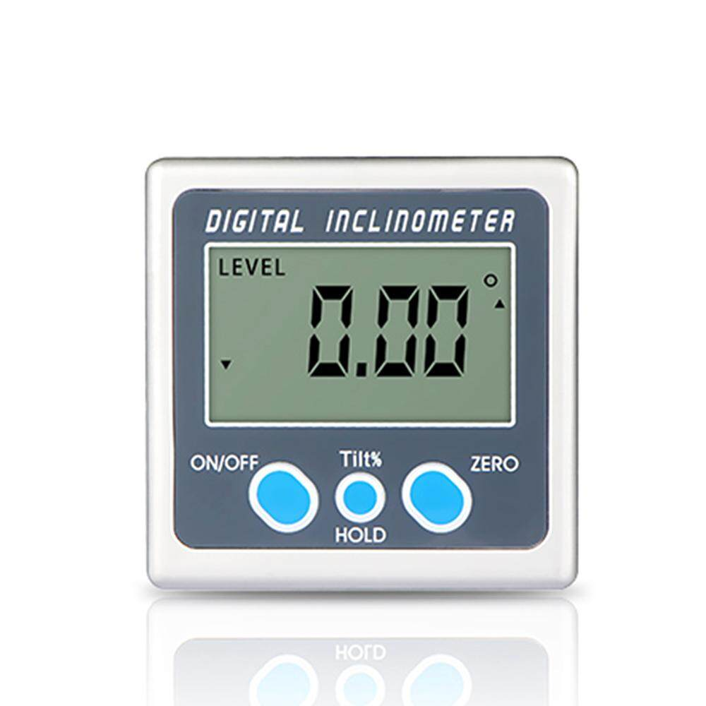 Multi-functional Digital Inclinometer Zinc Alloy Shell 360° Electronic Protractor Mini Digital Angle Gauge with Magnet