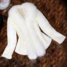 Aiipstore Nữ Giả Áo Khoác Lông Thú Sang Trọng Dày Ấm Mới Thời Trang Áo Khoác Lông Thú Giả Áo Khoác