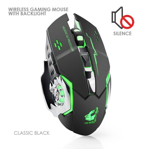 Wired/Wireless Gaming Mouse with Silent LED Backlit 8D 3200 DPI Adjustable USB Optical Ergonomic PC Computer Mouse For Laptop.