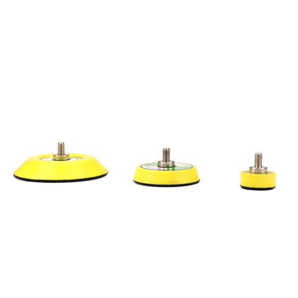 SI FANG 3Pcs 1/2/3 inch Polishing Sander Backer Plate 25mm 50mm 75mm Sanding Discs Pad Napping Hook Loop 1/4Shank