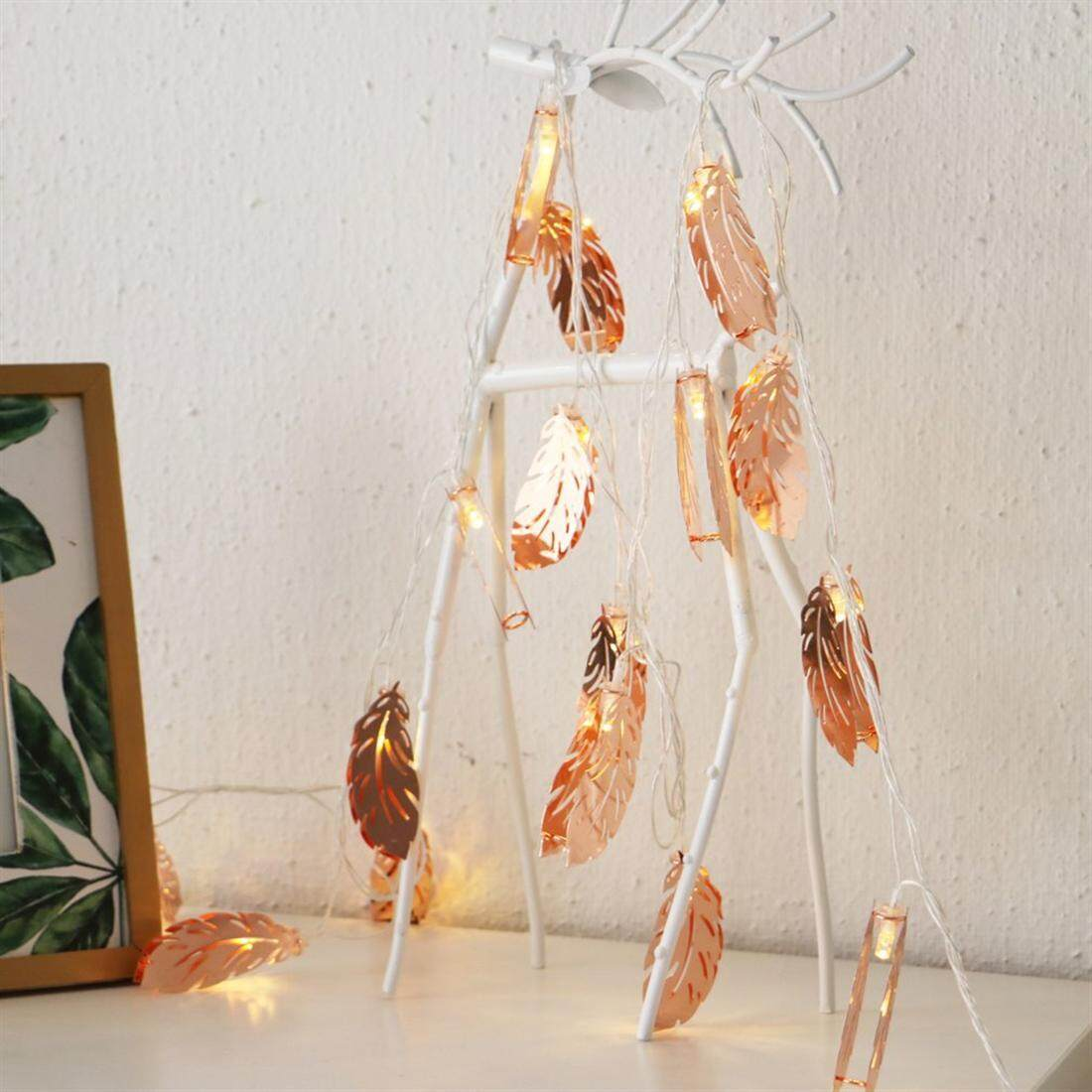 Feather Shape String Lights Christmas Indoor Decoration Warm LED String Light