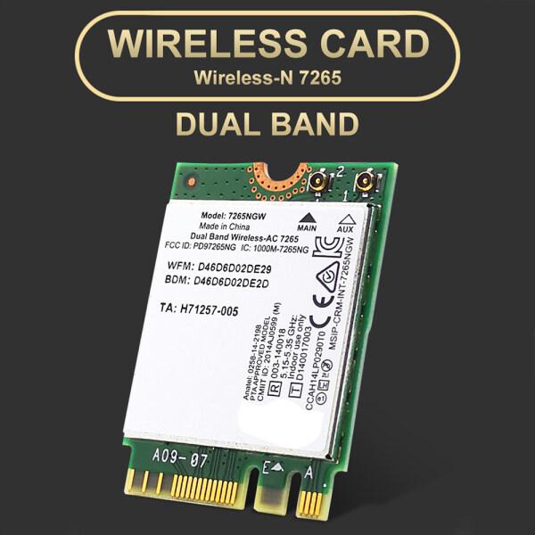 Giá Băng tần kép Wireless-N 7265 NGW 802.11n 2x2 wifi 300Mbps NGFF M.2 card mạng 7265nb 2.4G/5g