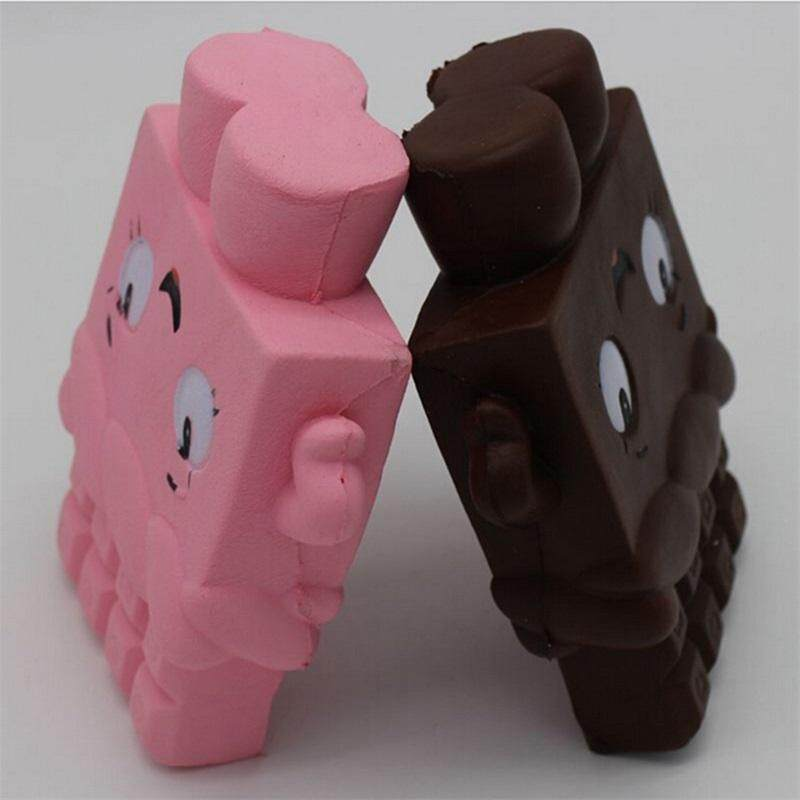 KCY Cartoon Chocolate Girl Squishy Soft Fun Toy Slow Rising Collect Gift Pop