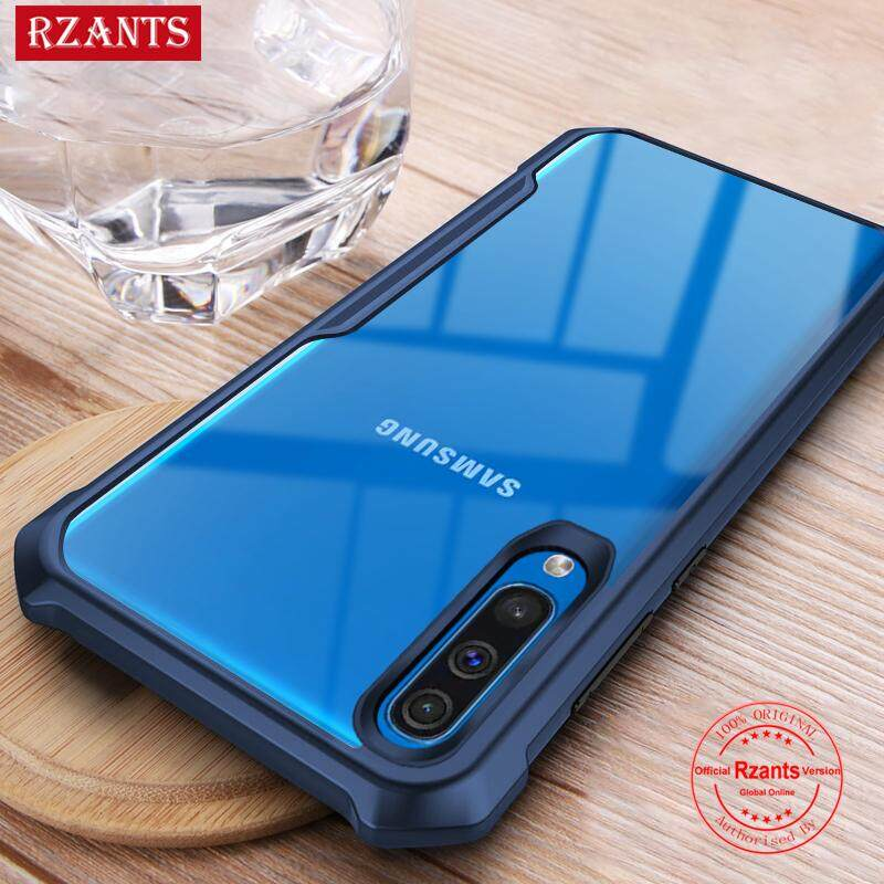Rzants For Samsung Galaxy A50 Hard Case【Four corner】Transparent Silica Gel Matte ShockProof