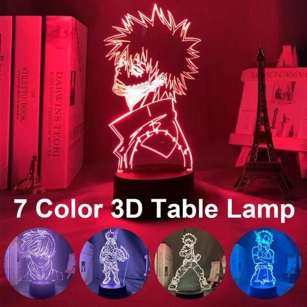 Đèn Ngủ 3d Cho Phòng Ngủ Trẻ Em Đèn Led Cảm Ứng Phòng Quà Tặng Học Viện Anime My Hero