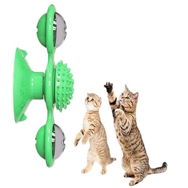 Massage Tóc Bàn Chải Trêu Chọc Hút Cup Cối Xay Gió Mèo Vật Nuôi
