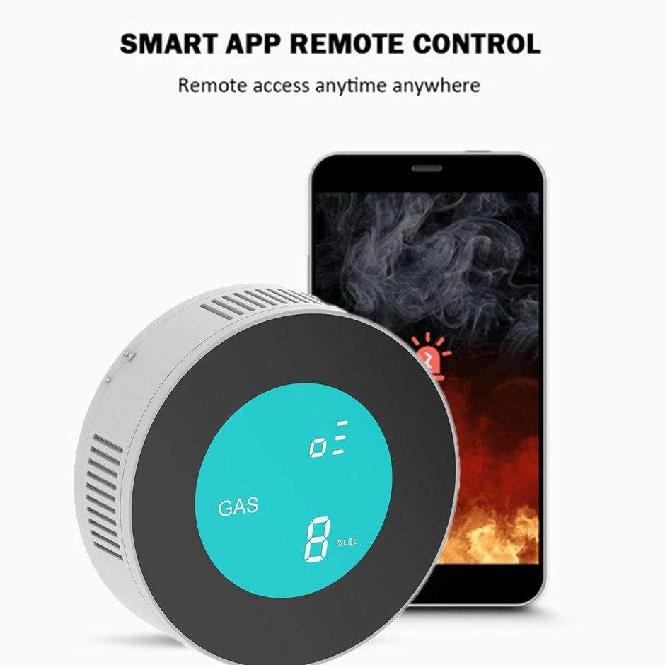 ELEC Smart WIFI f*re Smoke Prediction Sensor Wireless Control Detector Secure Alarm US Plug
