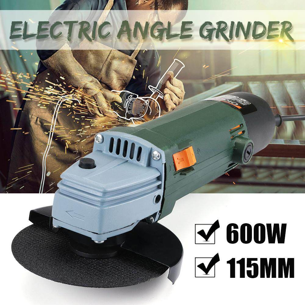 【Free Shipping + Flash Deal 】115mm 600W Electric Corded Angle Grinder With Blade Cutting Grinding Power Tool