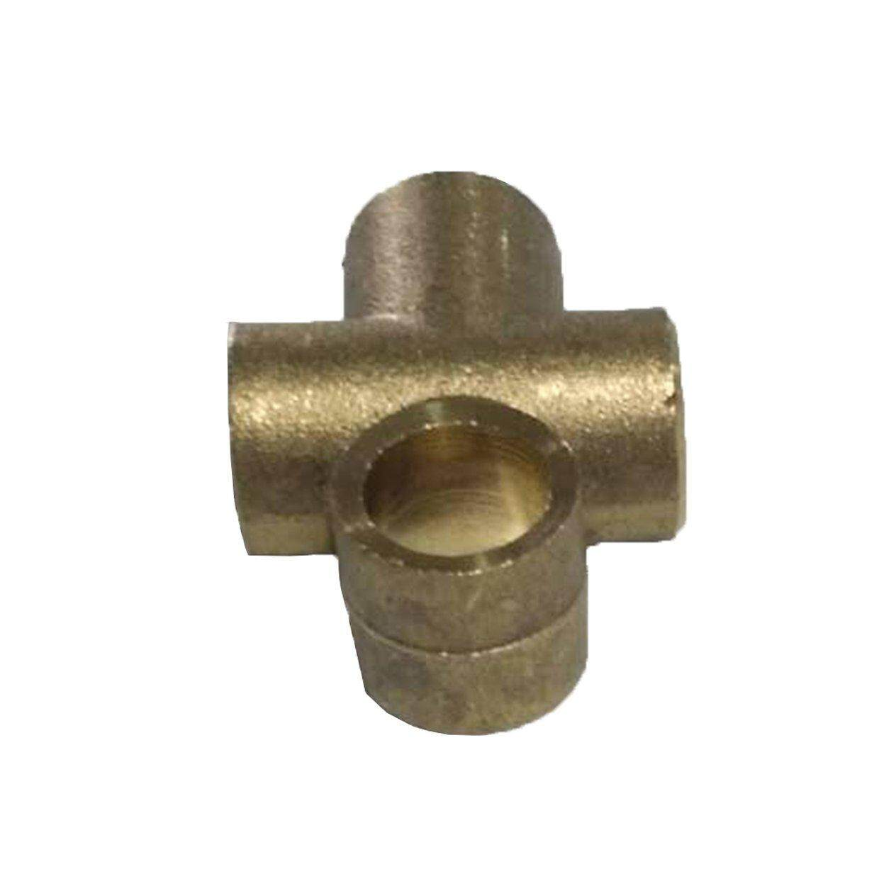 """CELE 3 Way T Piece Brake M10 Tee 3/16"""" Pipe With 3 Male Brake Nuts Fitting Adapter"""