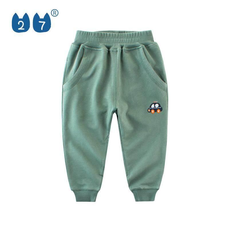 Boys Trousers Plus Velvet Sweatpants Childrens Children Autumn and Winter Pants