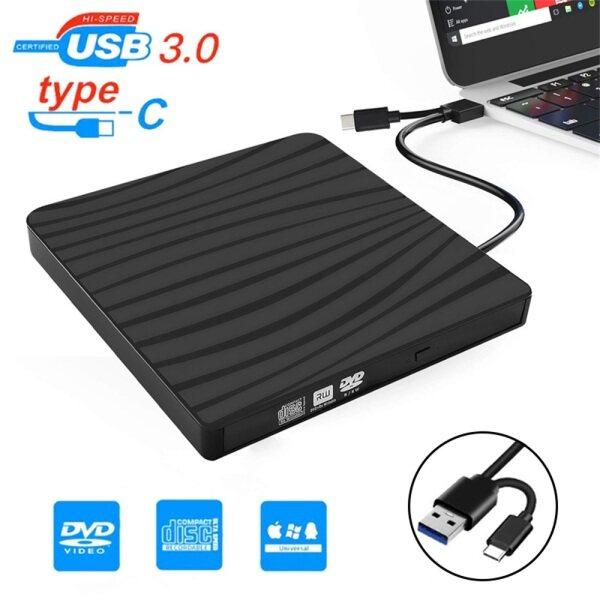 【In stock】Original USB 3.0 Type-C External Optical Drive 2 in 1 Slim High-Speed Reading Player Writer for DVD-ROM CD-RW Burner Laptop Macbook PC