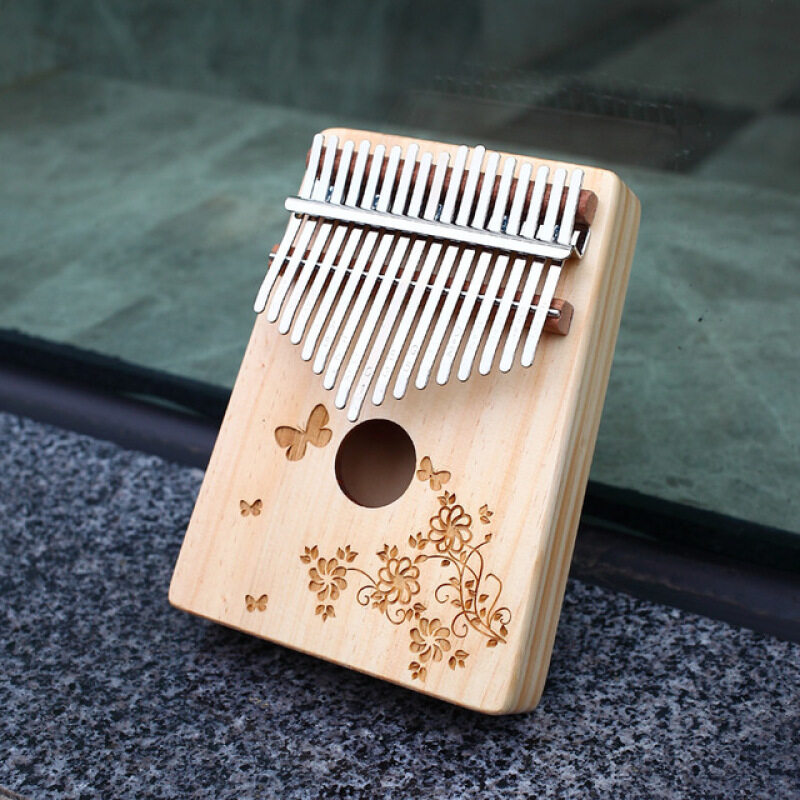 【Ready Stock】 17 Key Kalimba Wooden Thumb Piano Finger Percussion Instrument Kalimba African with Accessories Complete Set Malaysia