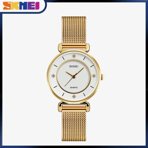 SKMEI Women Fashion Watches Quartz Waterproof Watch Stainless Steel Simple Elegant Wristwatches Ladies Clock 1330 Malaysia