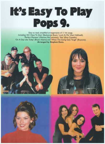 Its Easy To Play Pops 9 / Pop Song Book / Piano Book / Vocal Book / Voice Book Malaysia