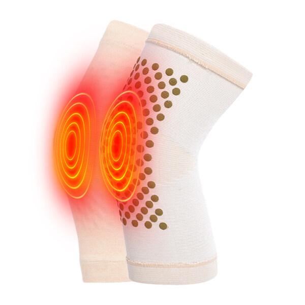 JIYUE 1 pair Wormwood Self Heating Knee Braces Warm Knee Pads Sleeves Knee Brace Support