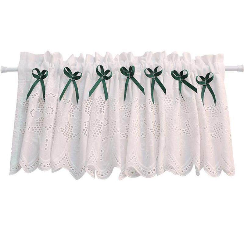 American / British Country English White Half Curtain Embroidery Door Curtain Decoration Curtain Cabinet Curtain