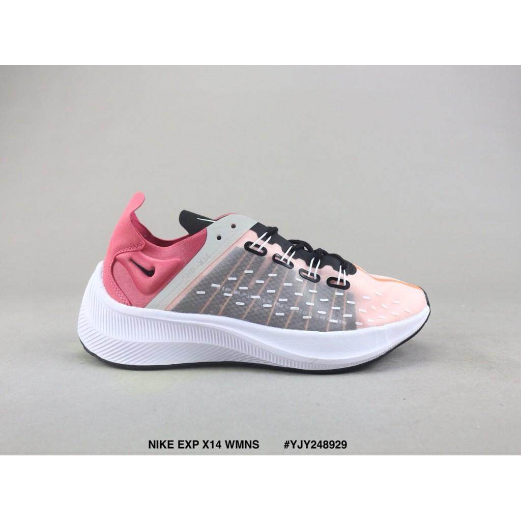 pretty nice 249dc 61b1f Ready Stock NIKE EXP X14 WMNS Pink purple Light running shoes Sale