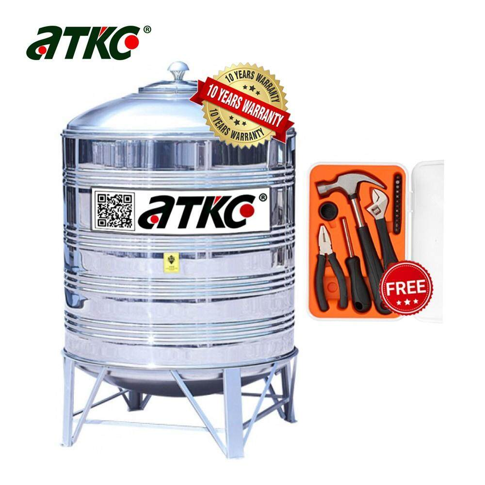ATKC® KR300 Vertical Round Bottom With Stand SUS304 Stainless Steel Water Tank 1250L/300G