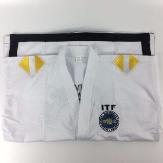 Đồng Phục Trợ Lý Giảng Viên ITF Taekwondo Dobok, Với 1 Đến 3 Slide Dan thumbnail