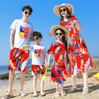 Parent-child Dress Suit, The Sea Holiday Family