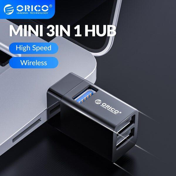 ORICO Hub USB 3.0 Splitter 3-port High Speed Expanded MINI In-Line Hub Laptop Extender for Desktop Laptop