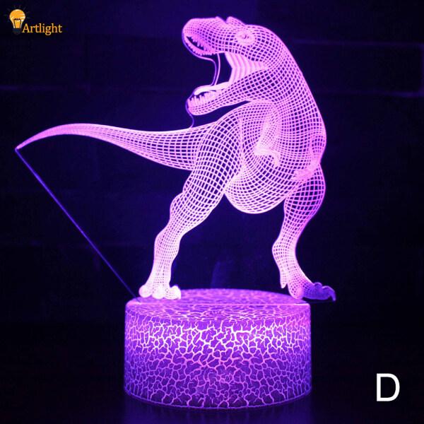 Đèn Ngủ LED 3D Khủng Long Loạt, Đèn Ngủ 3D 16 Màu Đèn Bàn Điều Khiển Từ Xa Đồ Chơi Quà Tặng Trang Trí Nhà Trẻ