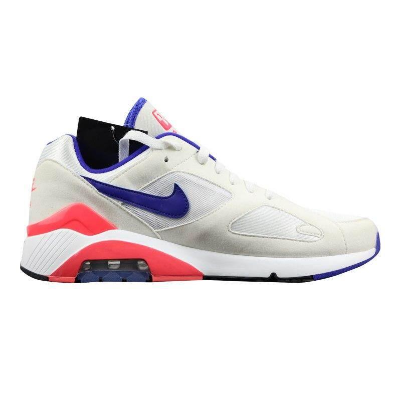 d55300dddf508 Original Nike Air Max 180 OG Men's and Women's Running Shoes, White & Red,