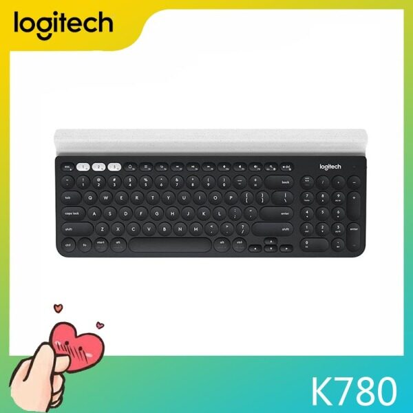 Logitech K780 Multi-Device Wireless Keyboard for PC, Computer, Phone, Tablet, Full-size Silent Keyboard Compatible with Windows Mac Singapore