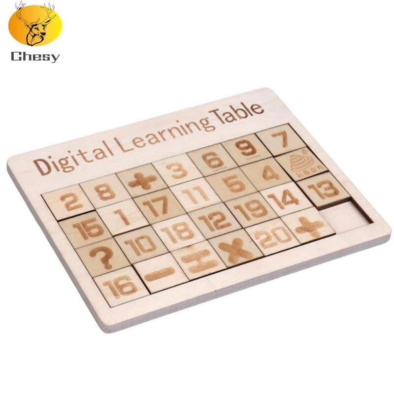 Children Wooden Digital Letter Sliding Puzzle Educational Toys Stereo  Mobile Puzzle Game
