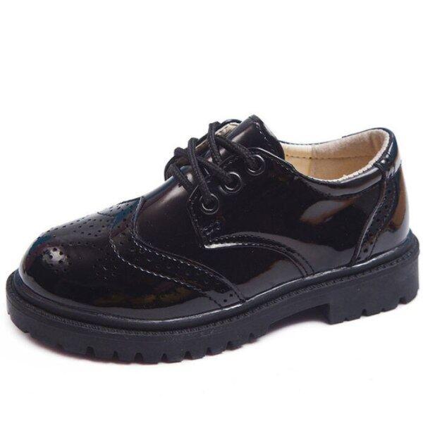 Giá bán New Da Cho Trẻ Em Giày Cưới Giày Cưới Giày Tây Cho Nam Nữ Thương Hiệu Trẻ Em Da Đen Giày Hiệu Suất Chàng Trai Trang Phục Chính Thức Giày Sneaker Đế Xuồng