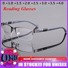 Kính đọc sách chống xanh thiết kế nửa gọng vuông ống kính phân cực dành cho nam nữ phù hợp với độ 0-1-1.5-2-2.5-3-3.5-4 – INTL