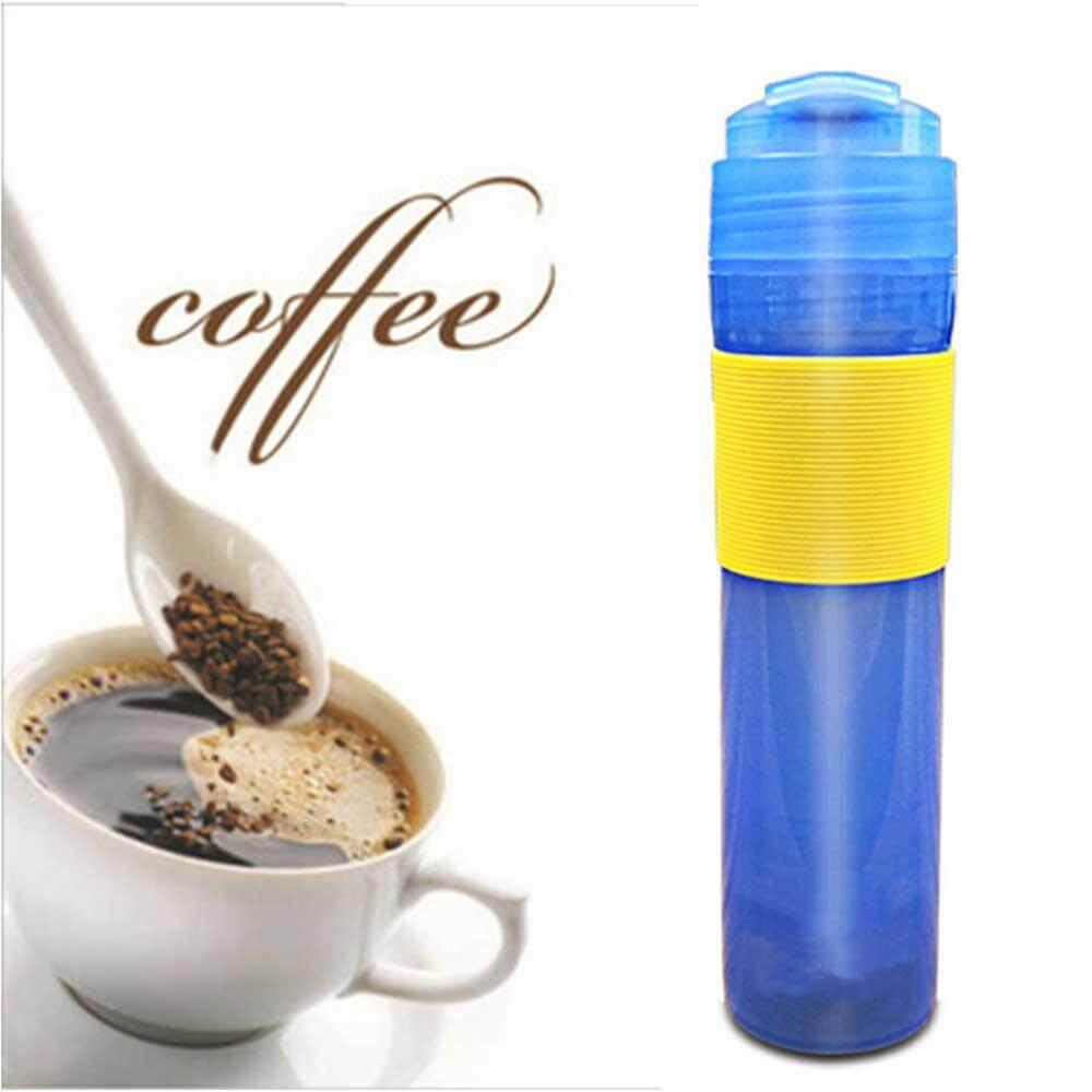 ecc0408914e SeaLavender 2019 300ml Portable French Presses Press Coffee Pot Thermos  Coffee Mug Travel Household Office Coffee